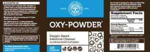Oxy-Powder Supplement Label